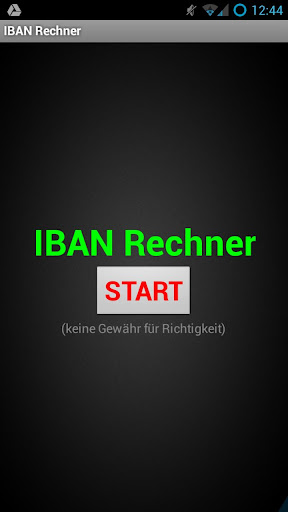 IBAN Rechner DE + AT + CH