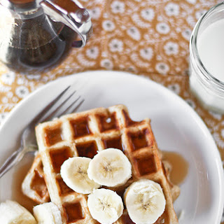 Banana Bread Yeasted Waffles.