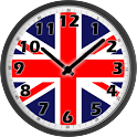 UK Flag Analog Clock logo