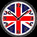 UK Flag Analog Clock logo