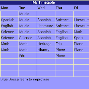 make a timetable for me