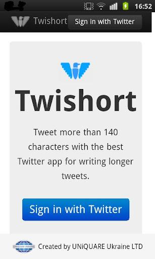 Twishort client