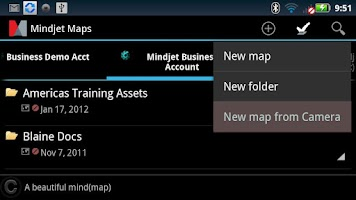 Screenshot of Mindjet Maps for Android