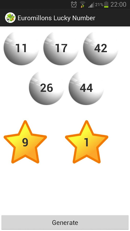 Euromillons - Lucky  Numbers - screenshot