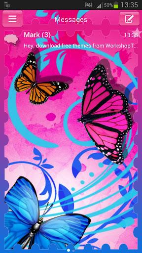 GO SMS Theme butterflies