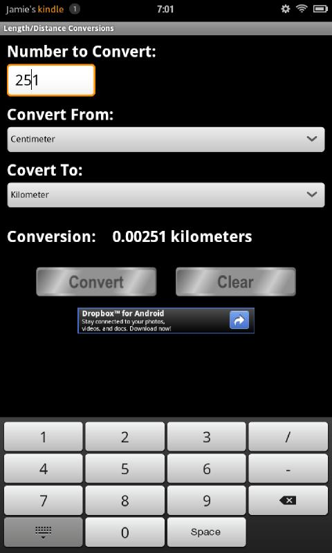 Conversion Calculator - screenshot