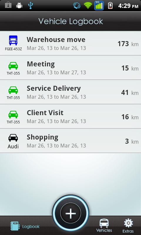 Vehicle Logbook- screenshot