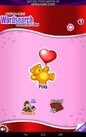 Screenshot of Valentine's Day Wordsearch