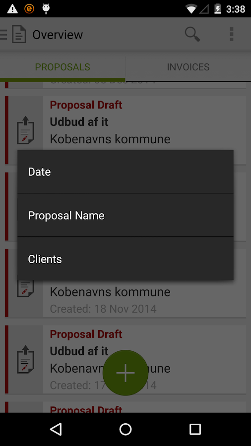 Proposal Engine- screenshot