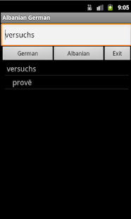 Albanian German Dictionary - screenshot thumbnail