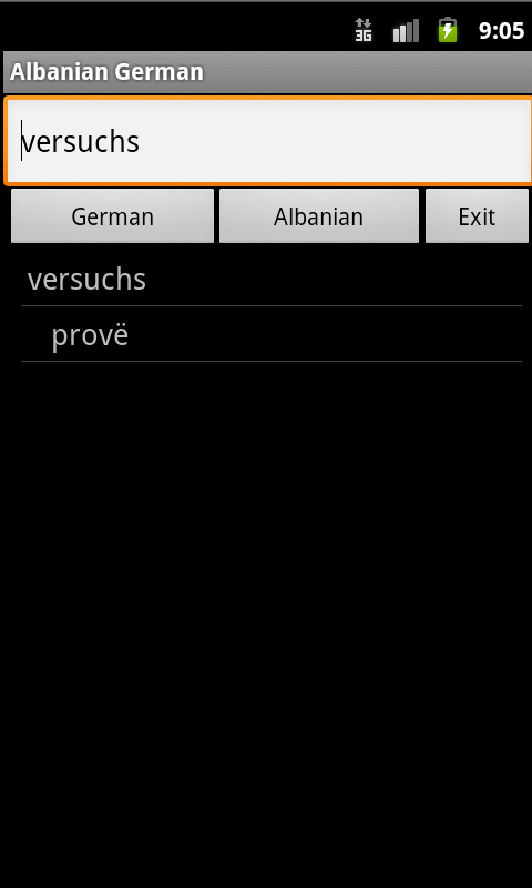 Albanian German Dictionary- screenshot