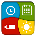 Clock Battery Calendar Widget icon