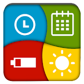 Clock Battery Calendar Widget