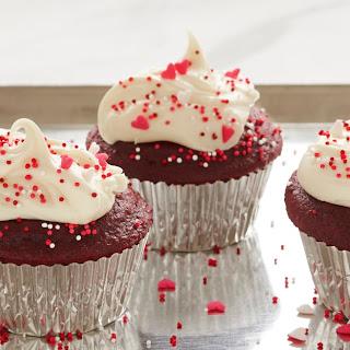 Classic Red Velvet Cupcakes.