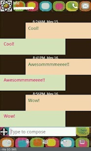 GO SMS THEME/retrosquares - screenshot thumbnail