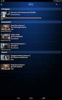 Screenshot of Sky Go Tablet