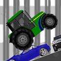 Farm driver - uphill Tractor icon
