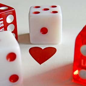by Kerry  Milligan - Artistic Objects Still Life ( dice, heart, red, white, card, pwc87, color, colors, landscape, portrait, object, filter forge )