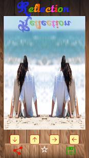 鏡子反射的照片