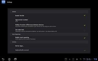 Screenshot of TexTab