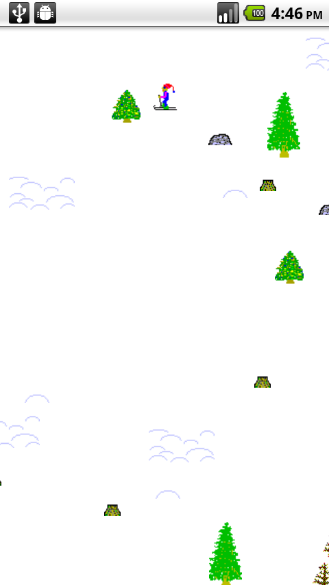 A SkiFree Clone - screenshot