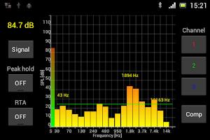 Screenshot of SPL Spectrum Analyzer