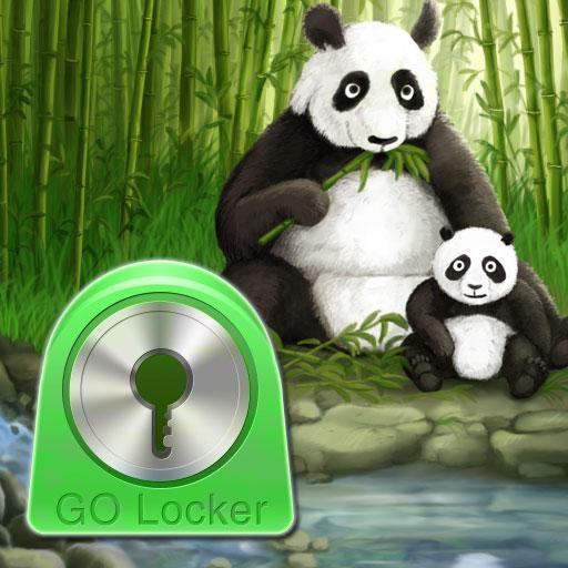 个人化のロッカーテーマパンダGO Locker Theme LOGO-記事Game