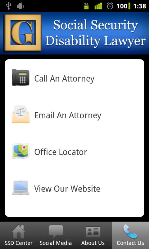 Social Security Lawyer - screenshot