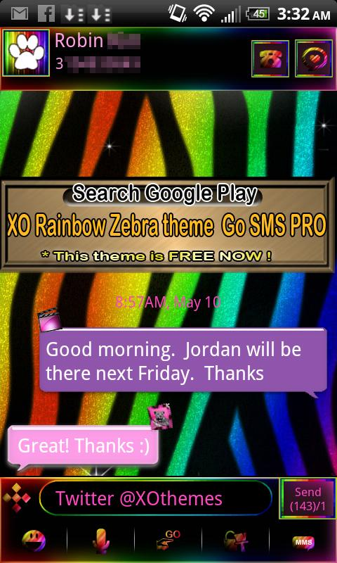GO SMS PRO Leopard PINK theme - screenshot
