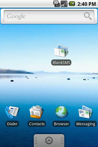 BlankSMS - screenshot
