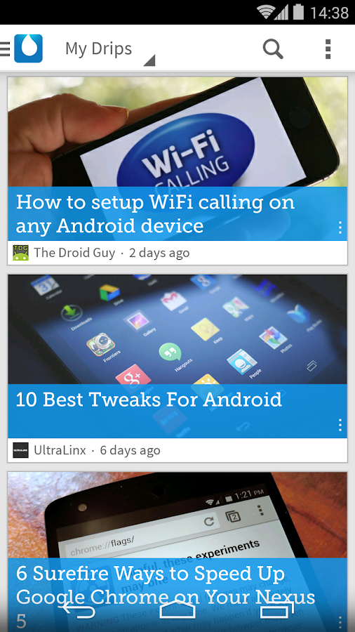 Drippler - Top Android Tips - screenshot