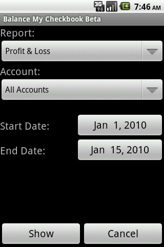 Balance My Checkbook Beta- screenshot