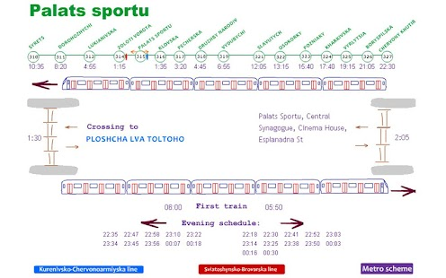 Scheme&Schedule of Kyiv metro- screenshot thumbnail