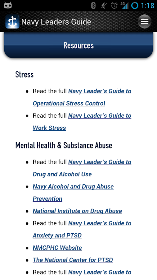 Navy Leader's Guide- screenshot