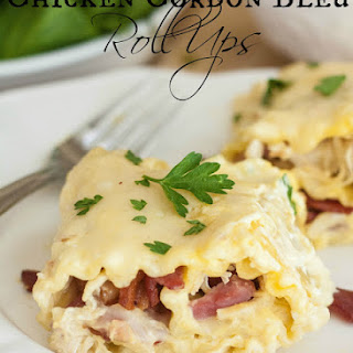 Chicken Cordon Bleu Roll Ups.