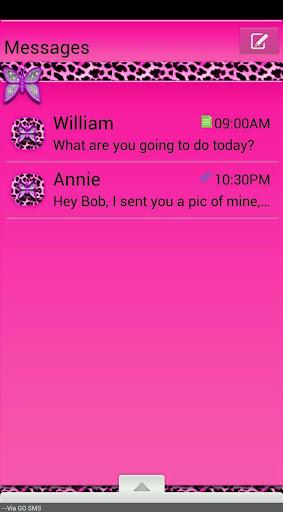 GO SMS THEME PussyCat1
