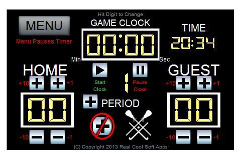 Real Cool Lacrosse Scoreboard