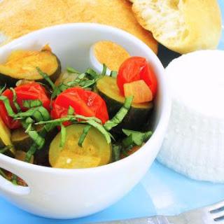 Zucchini and Tomato Mélange - pressure cooker