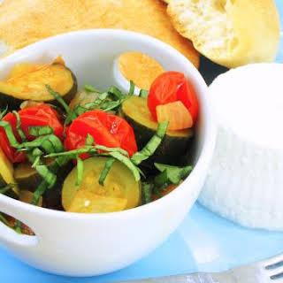 Zucchini and Tomato Mélange - pressure cooker.