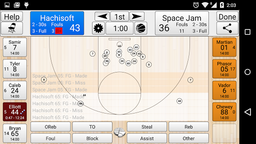 Basketball Stat Tracker  screenshots 1