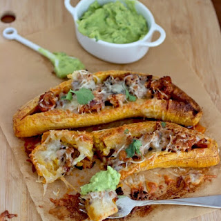 Ripe Plantains Stuffed with Chorizo and Cheese