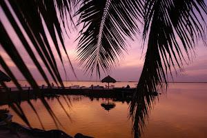 Sunset on Key Largo, Florida.