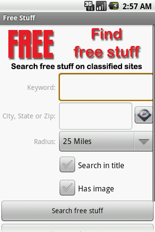 Find Free Stuff - screenshot