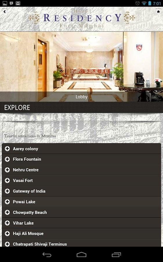 Residency Hotel Fort, Mumbai - screenshot