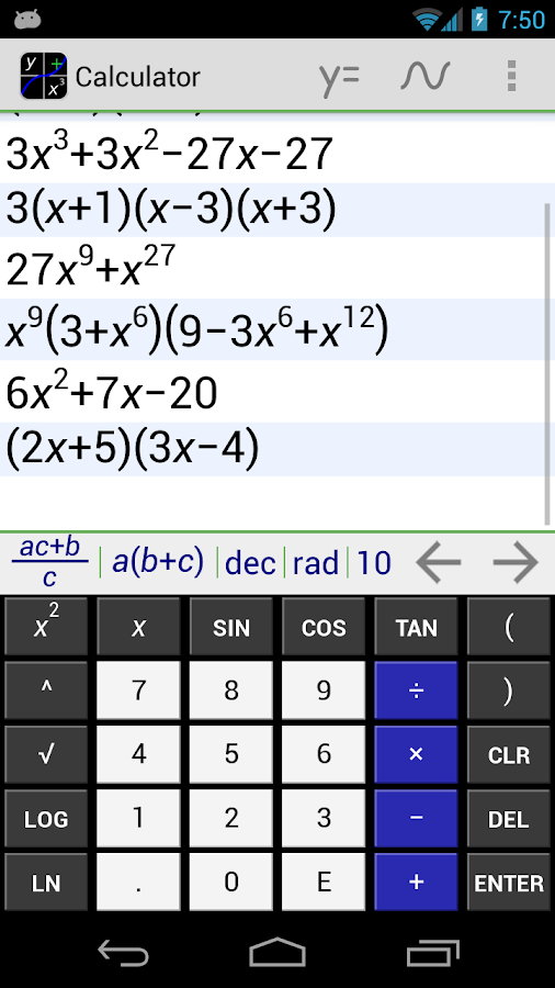 MathAlly Graphing Calculator +- screenshot