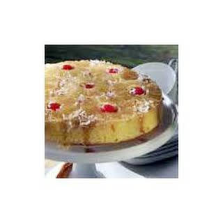 Pineapple Coconut Upside-Down Cake.