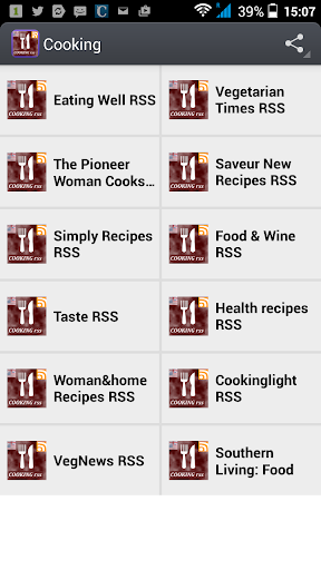 Cooking magazines RSS