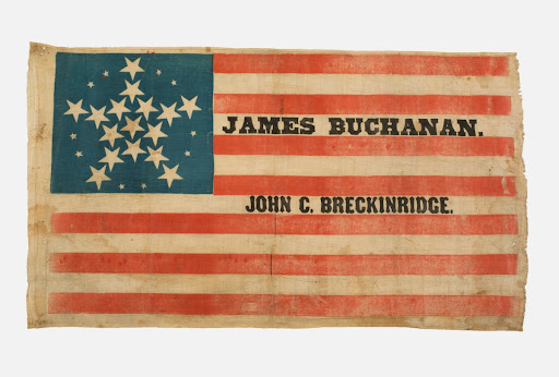 Buchanan-Breckinridge Campaign Flag, 1856
