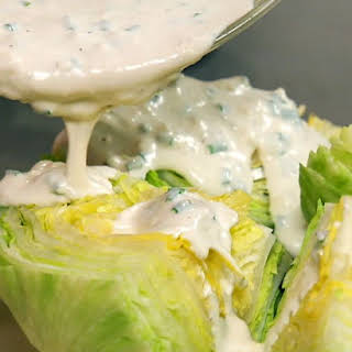 Iceberg Wedges with Blue Cheese Dressing.