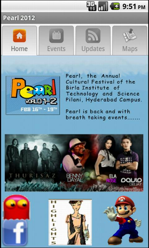 Pearl 2012 - BITS HYDERABAD- screenshot